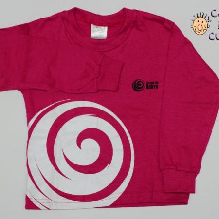 Camiseta Manga Longa Rosa