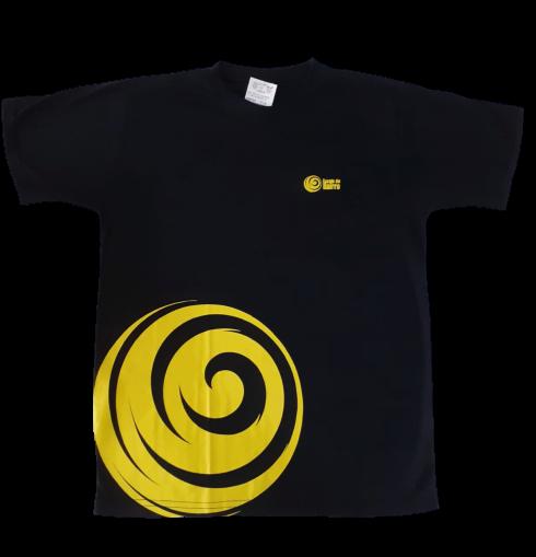 Camiseta Manga Curta preta com Amarelo