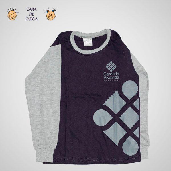 Camiseta Manga Longa Roxa