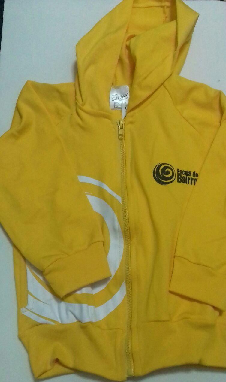 Jaqueta de Helanca Amarela