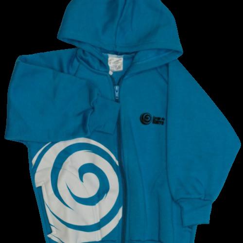 Jaqueta de Moletom com Flanela Azul