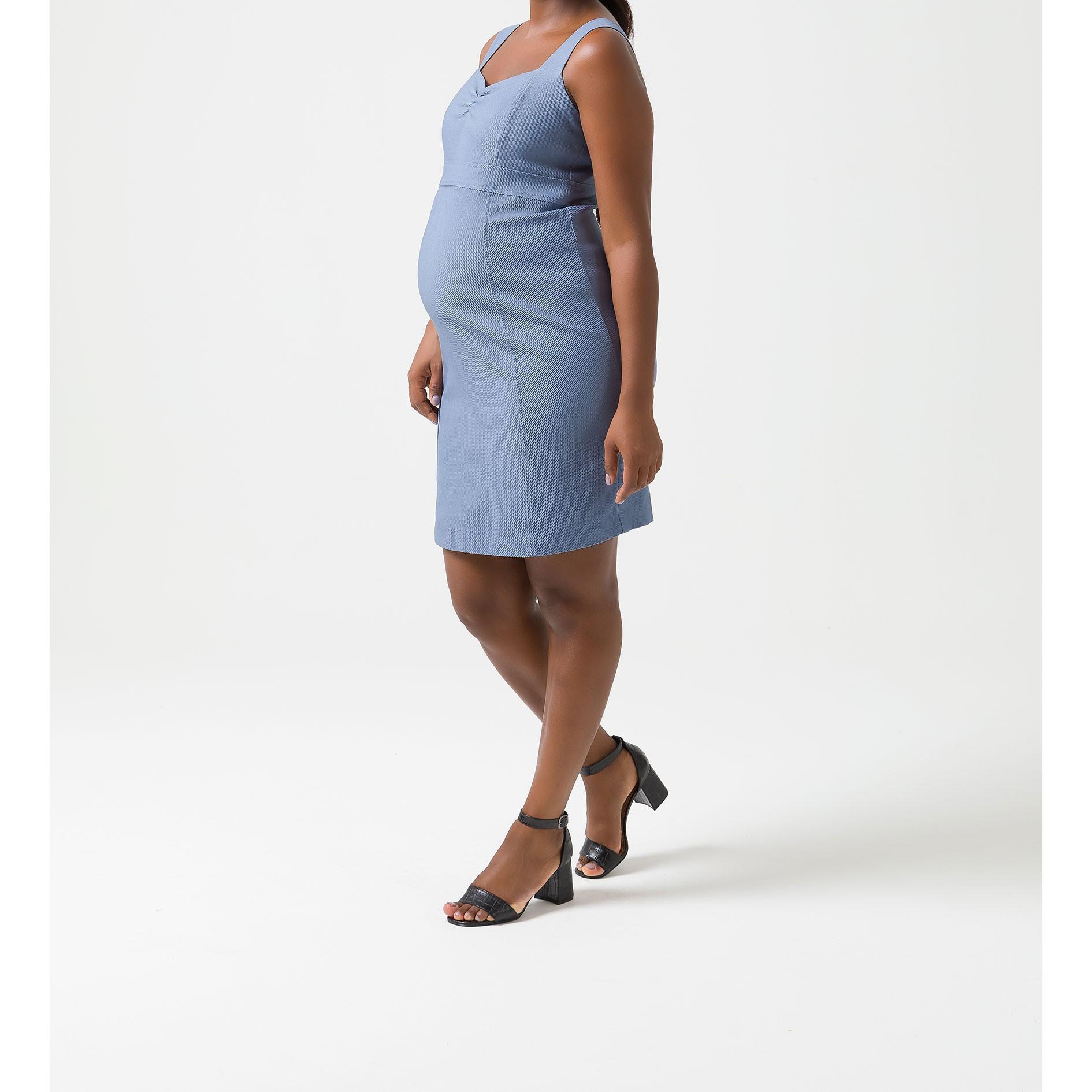 Mammy Gestante - vestido Alça Piquet
