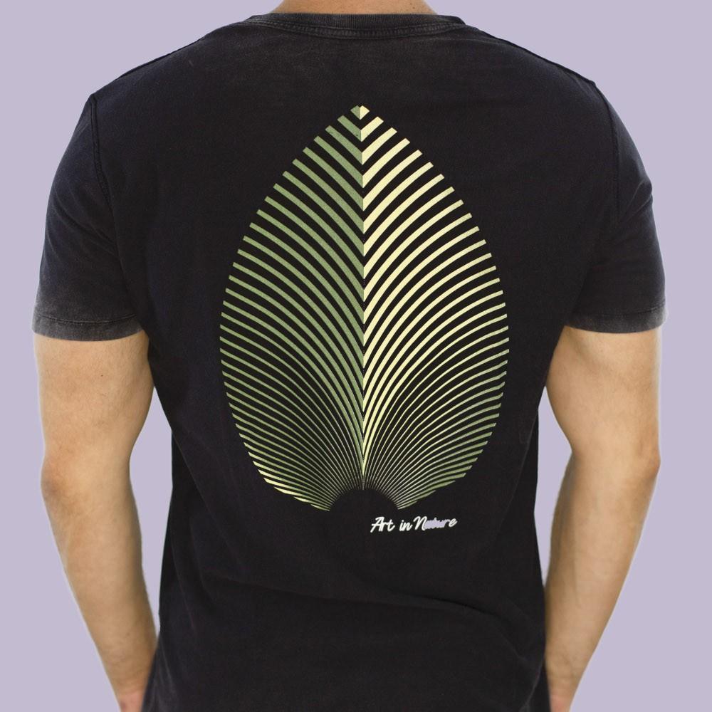 camiseta leaf dupla face
