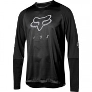 CAMISA FOX DEFEND LS FOXHEAD BLK