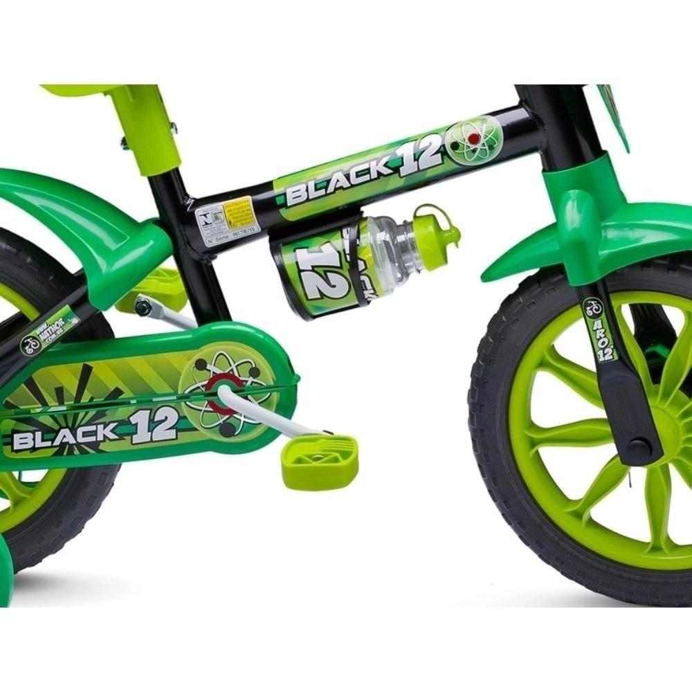 BICICLETA 12 NATHOR BLACK 12 VERDE/PTO