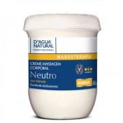Creme de Massagem Neutro Sem Perfume 650g (D`Água Natural)