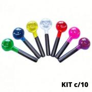 Esfera de Vidro p/ Cromoterapia Pequena kit c/ 10 Cores