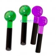 Kit 2 Esferas de Vidro Verde e Mais uma Cor a sua Escolha
