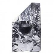 Manta Forrada com Plástico Incolor e Viez 1m x 1,80m