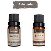 Óleo Essencial 10ml - 2 Alecrim + 2 Lavanda (Via Aroma 100% Natural)