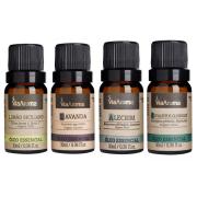Óleo Essencial 10ml - Alecrim + Lavanda + Eucaliptus Globulus + Limão Siciliano (Via Aroma 100% Natural)
