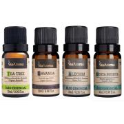 Óleo Essencial 10ml - Alecrim + Lavanda + Menta + Tea Tree Melaleuca (Via Aroma 100% Natural)
