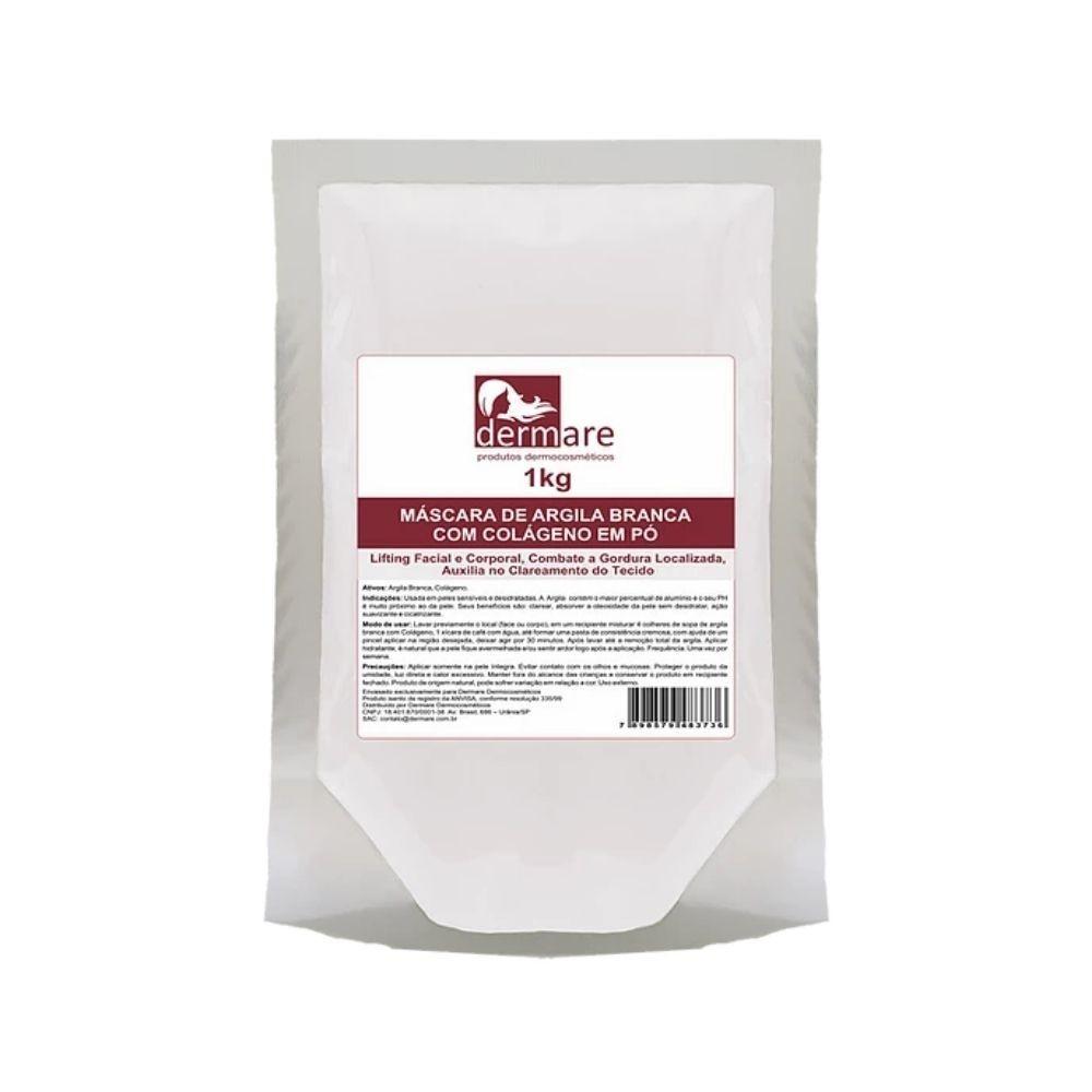 Argila Branca com Colágeno 1kg (Dermare)  - Emphática