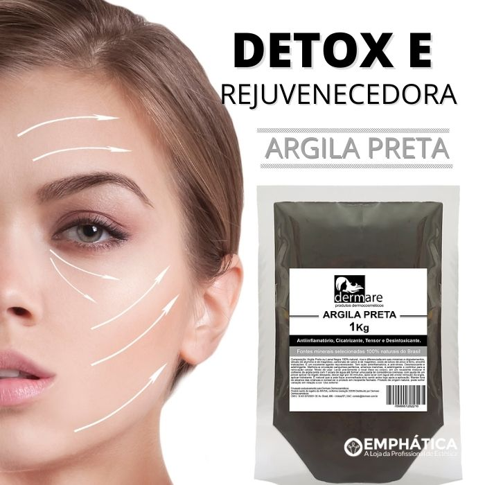 Argila Preta - Facial Rejuvenescedora 1Kg (Dermare)  - Emphática