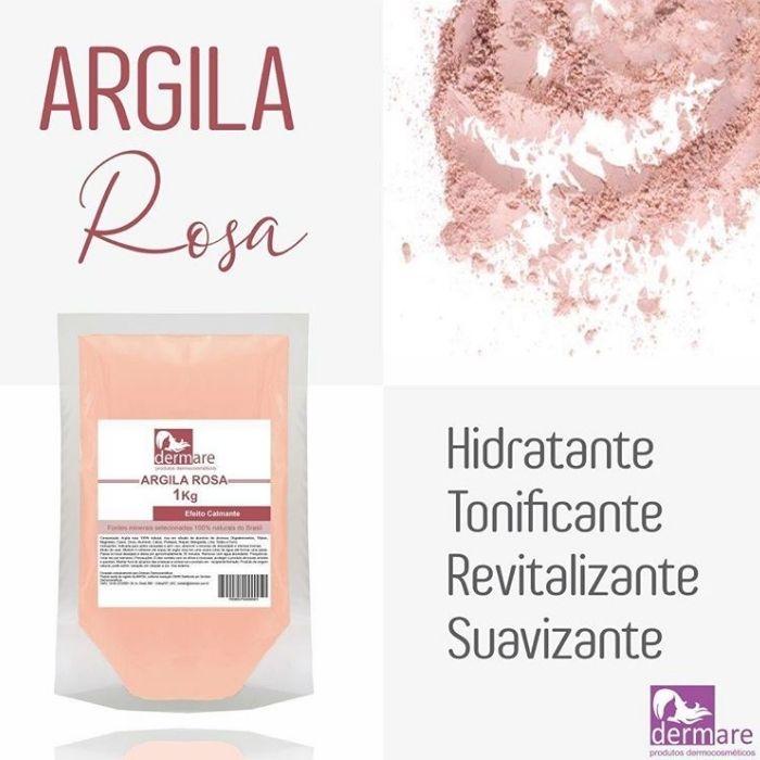 Argila Rosa - Efeito Calmante Facial e Corporal 1kg (Dermare)  - Emphática