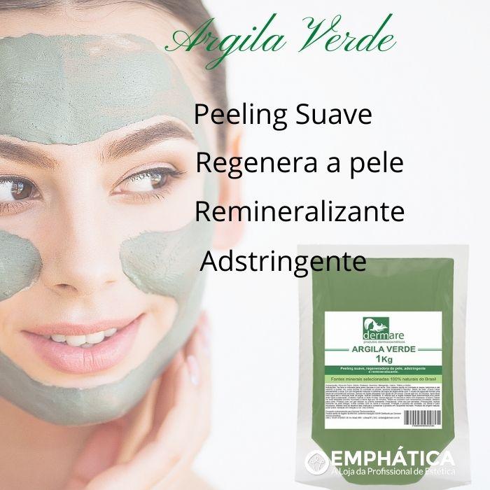 Argila Verde - Regeneradora da Pele 1kg (Dermare)  - Emphática