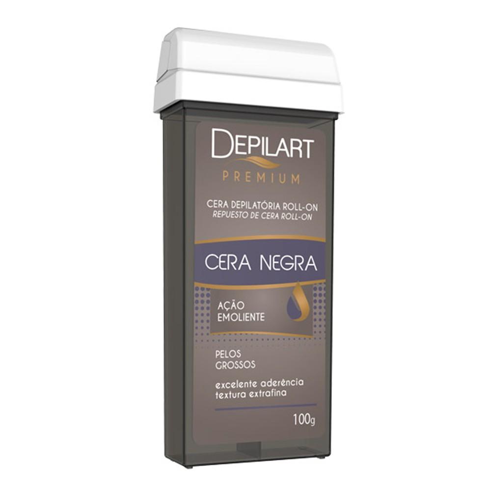 Cera Depilatória Refil Roll-On Premium 100g  Negra (Depilart)  - Emphática