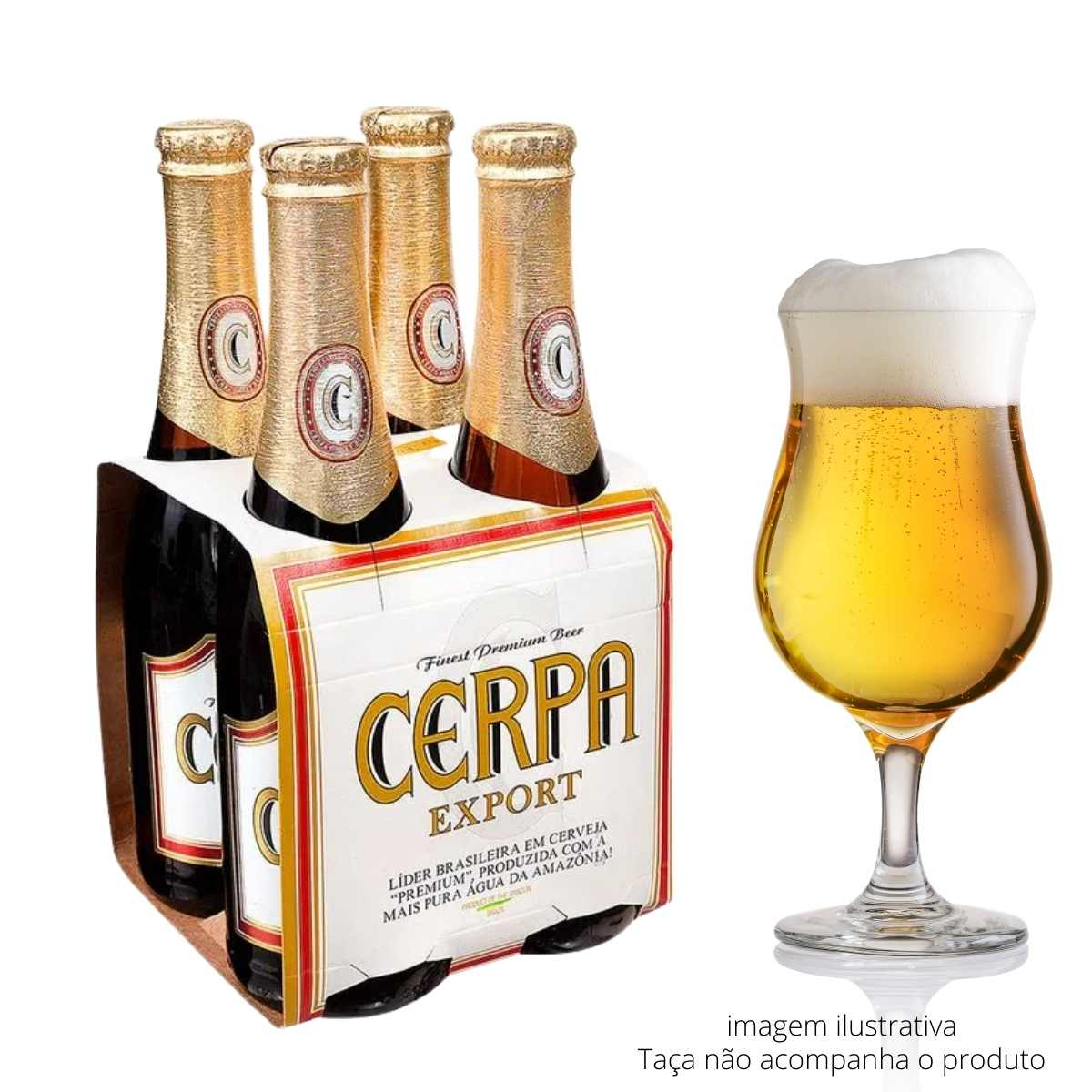 Cerveja Cerpa Export 350ml Pack c/4  - Emphática