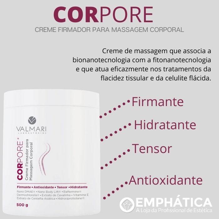 Corpore Creme Firmador para Massagem Corporal 500g (Valmari)  - Emphática