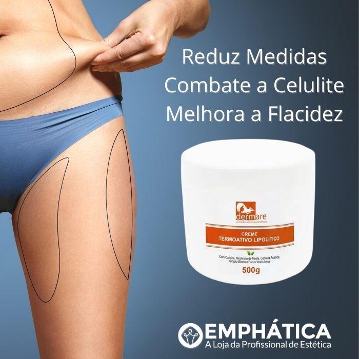 Creme Corporal Termoativo Anticelulite Lipolítico 500g (Dermare)  - Emphática