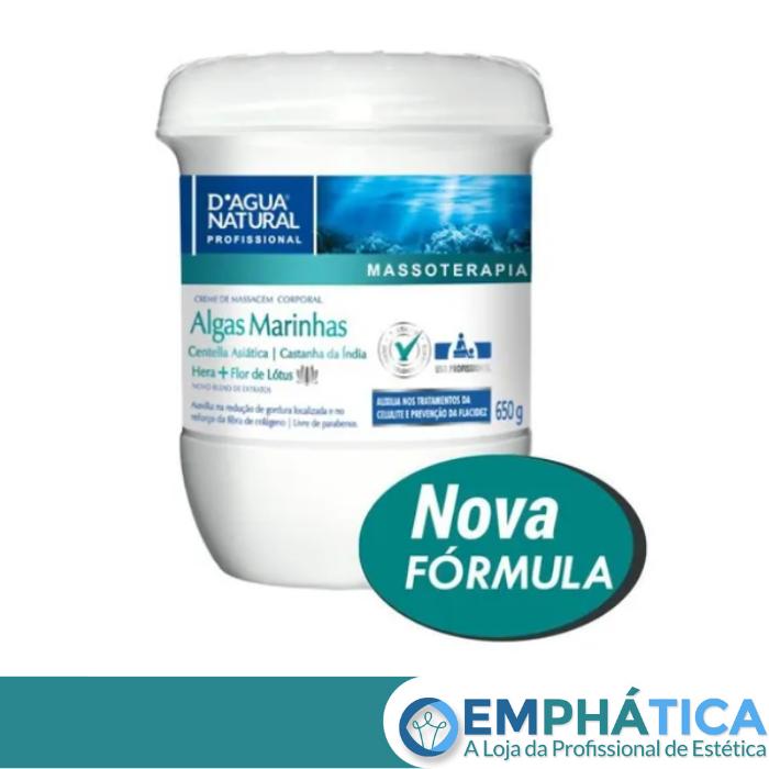 Creme de Massagem Algas Marinhas e Centella Asiatica 650g (D`Água Natural)  - Emphática