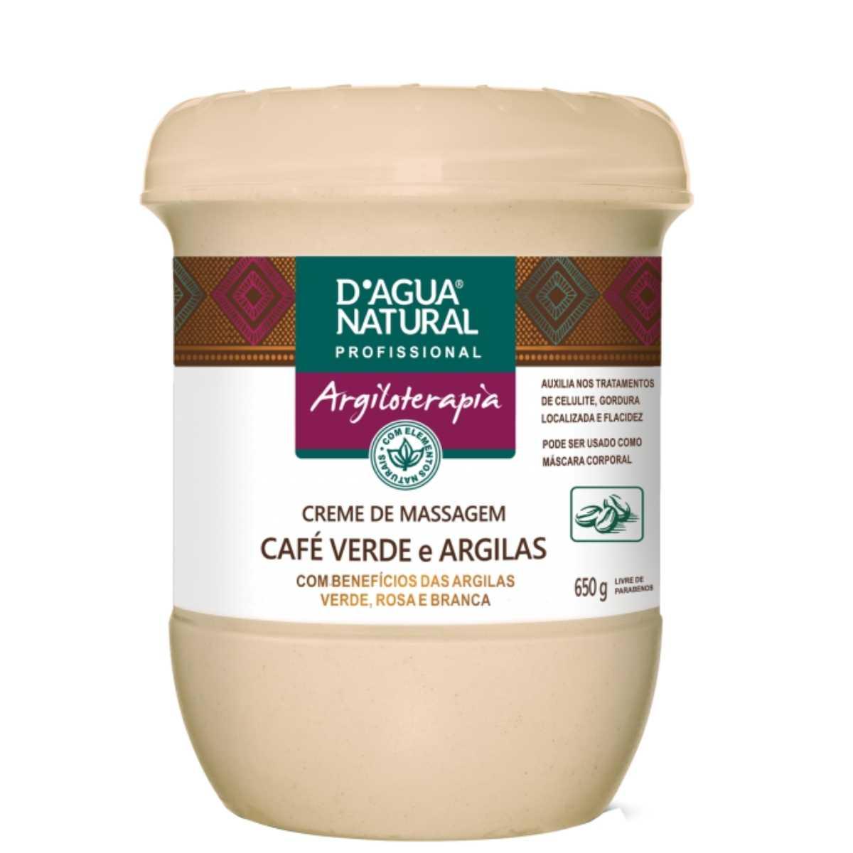 Creme de Massagem Argiloterapia Café Verde e Argilas 650g  - Emphática