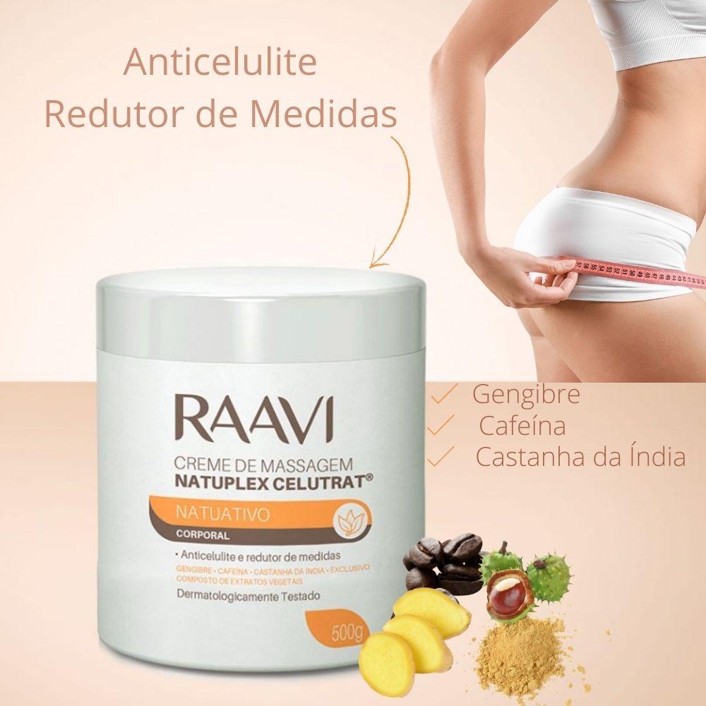 Creme de Massagem Ativos Naturais Anti Celulite Natuplex Celutrat 500g (Raavi)  - Emphática