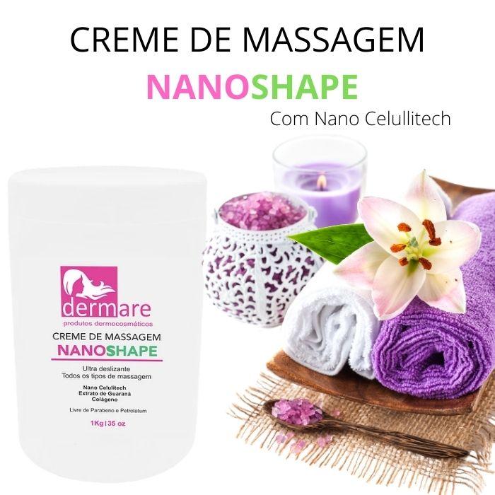 Creme de Massagem NanoShape 1kg (Dermare)  - Emphática
