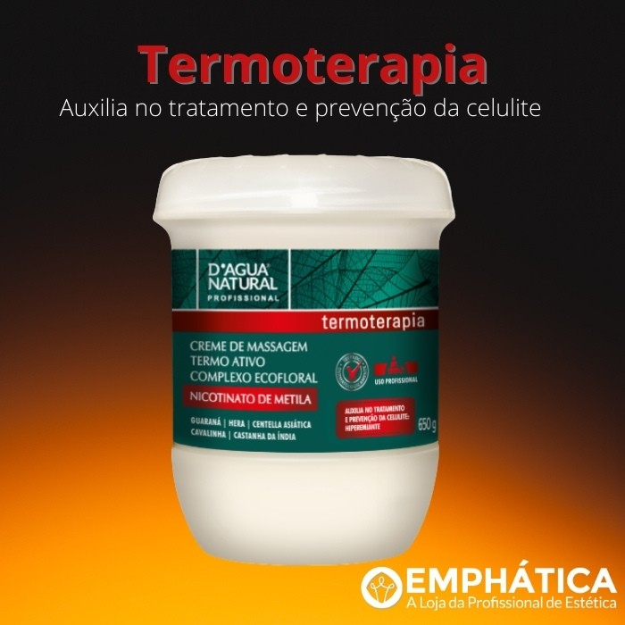 Creme De Massagem Termo Ativo Nicotinato de Metila 650g  (D`Água Natural)  - Emphática