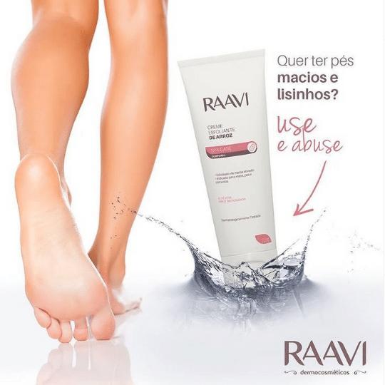 Creme Esfoliante de Arroz para Corpo Pés e Mãos 200g (Raavi)  - Emphática