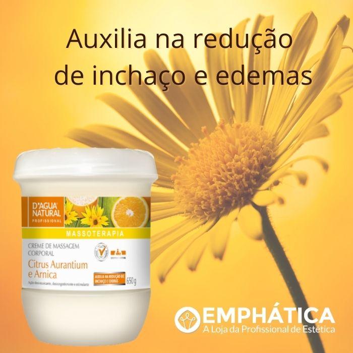Creme Massagem Corporal Citrus Aurantium e Arnica 650g ( (D`Água Natural)  - Emphática