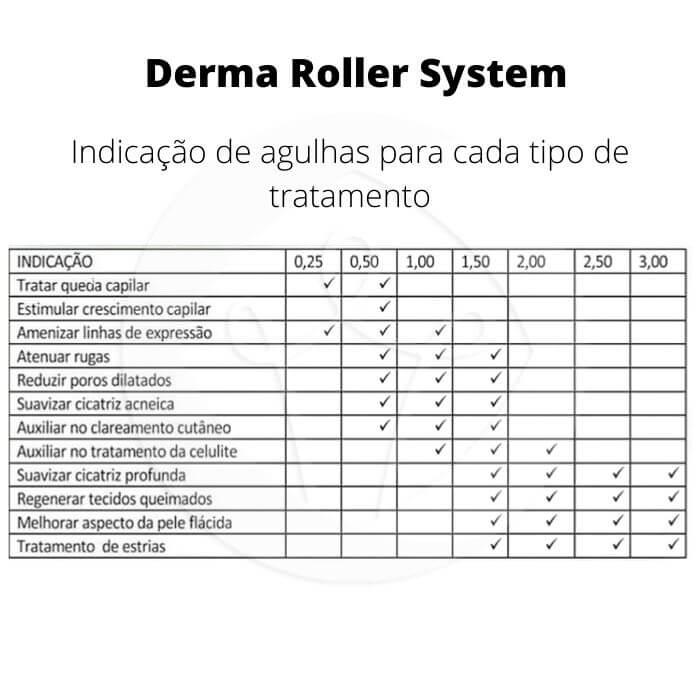 Derma Roller System  540 Agulhas -  0,50 mm (Doutor da Estética)  - Emphática