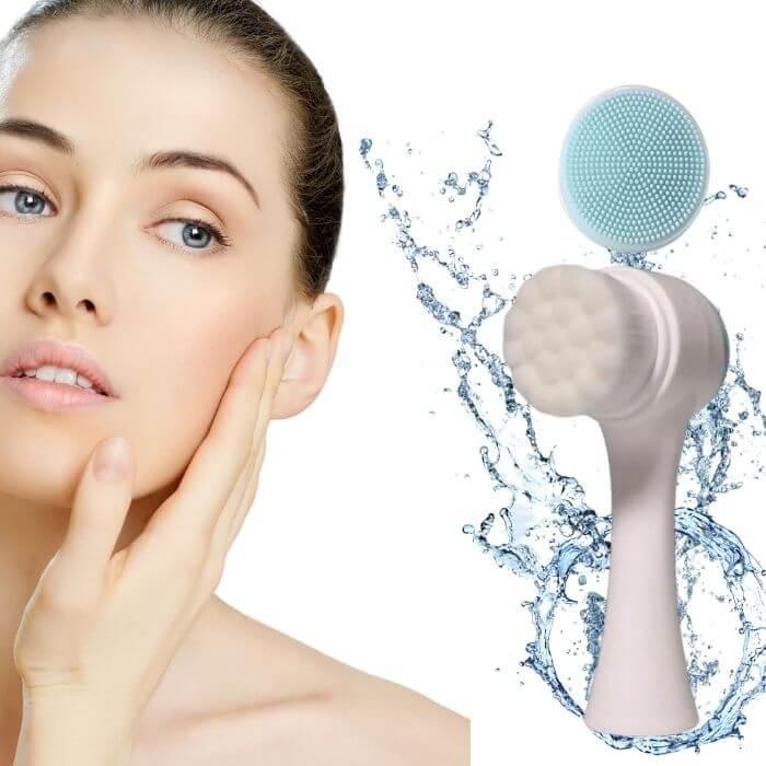 Escova 3d Limpeza Facial Dupla Face (Cores Sortidas)  - Emphática