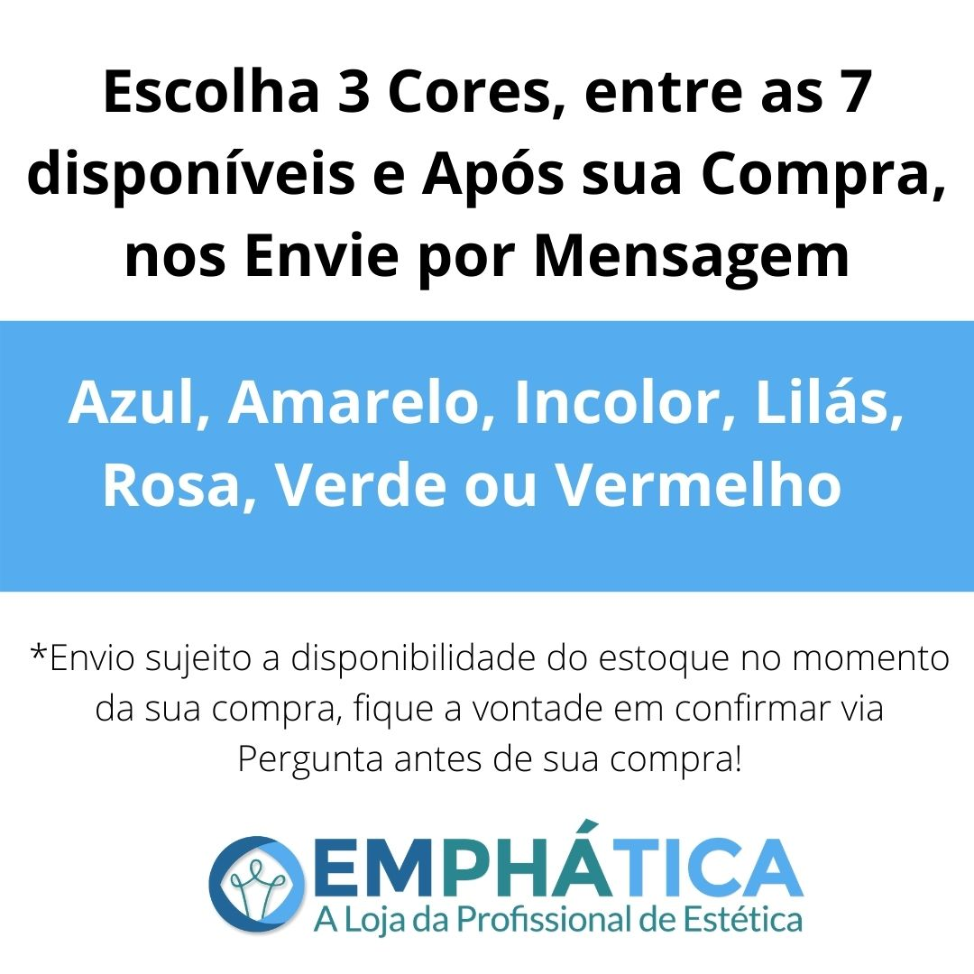 Esfera de Vidro p/ Cromoterapia Pequena kit c/ 3 Cores (Lilás, Incolor e Vermelho)  - Emphática