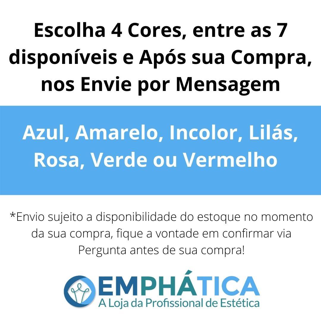 Esfera de Vidro p/ Cromoterapia Pequena kit c/ 4 Cores (Amarelo, Rosa, Verde, Lilás)  - Emphática