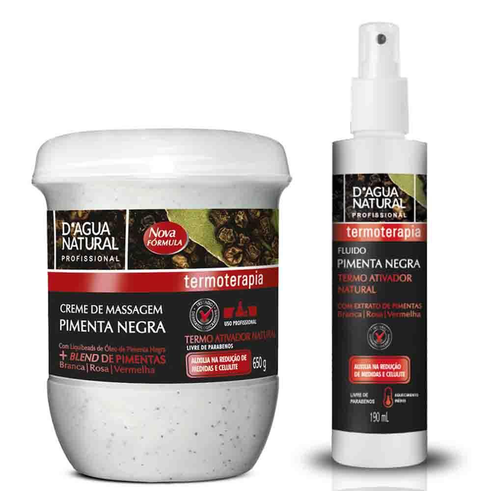 Especial Pimenta Negra (Creme de Massagem + Fluido Termo Ativador)  - Emphática