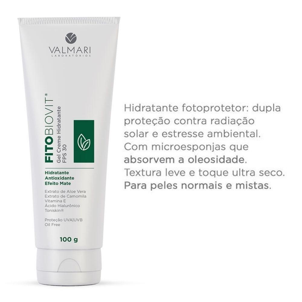 Fitobiovit Gel Creme Hidratante FPS30 100g (Valmari)  - Emphática