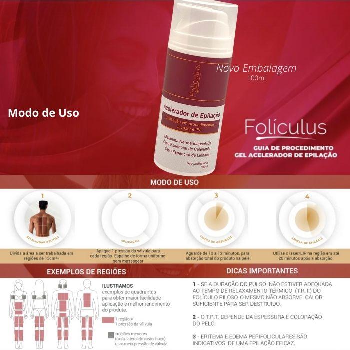 Gel Acelerador de Epilação Folículus - 100ml  - Emphática