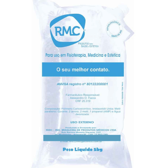 Gel Clínico Condutor Incolor Bag de 5kg (RMC) com 4 unidades  - Emphática
