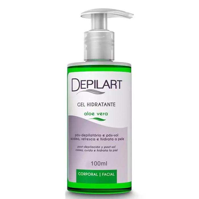 Gel Hidratante Pós Depilação  Aloe Vera 100ml (Depilart)  - Emphática