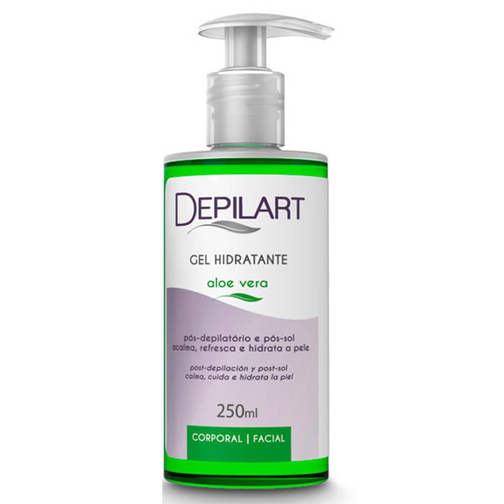 Gel Hidratante Pós Depilação  Aloe Vera 250ml (Depilart)  - Emphática