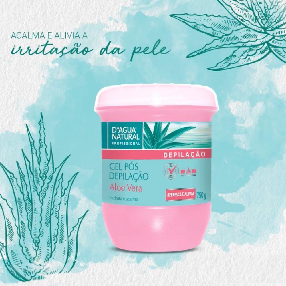 Gel Pós Depilação Aloe Vera 750g (D`Água Natural)  - Emphática