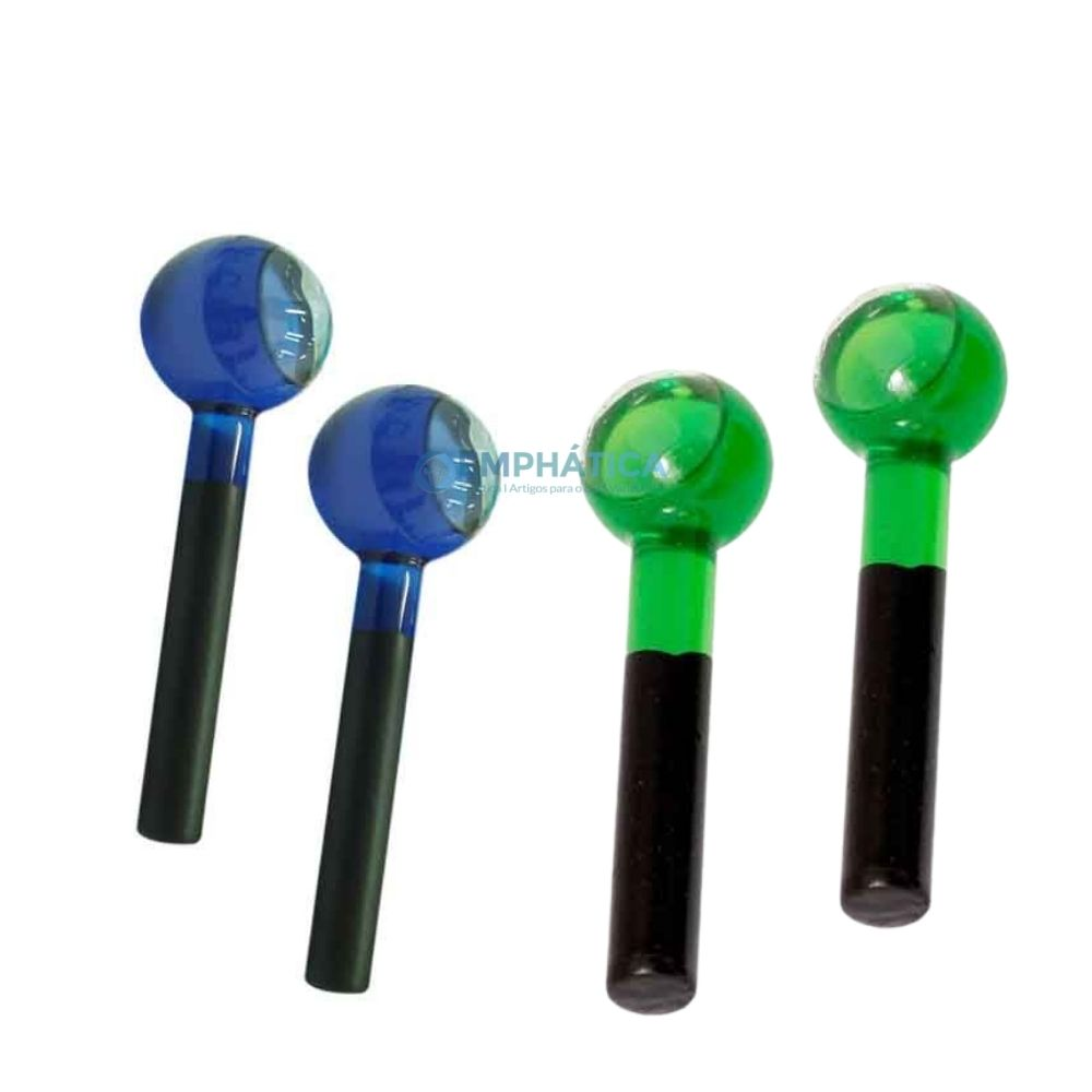 Kit 2 Esferas de Vidro Azul e Mais uma Cor a sua Escolha  - Emphática