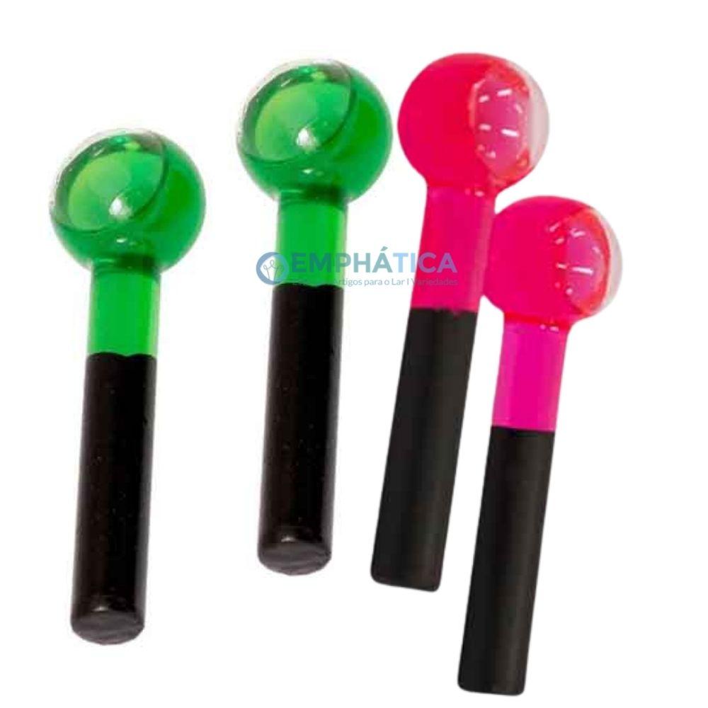 Kit 2 Esferas de Vidro Verde e Mais uma Cor a sua Escolha  - Emphática