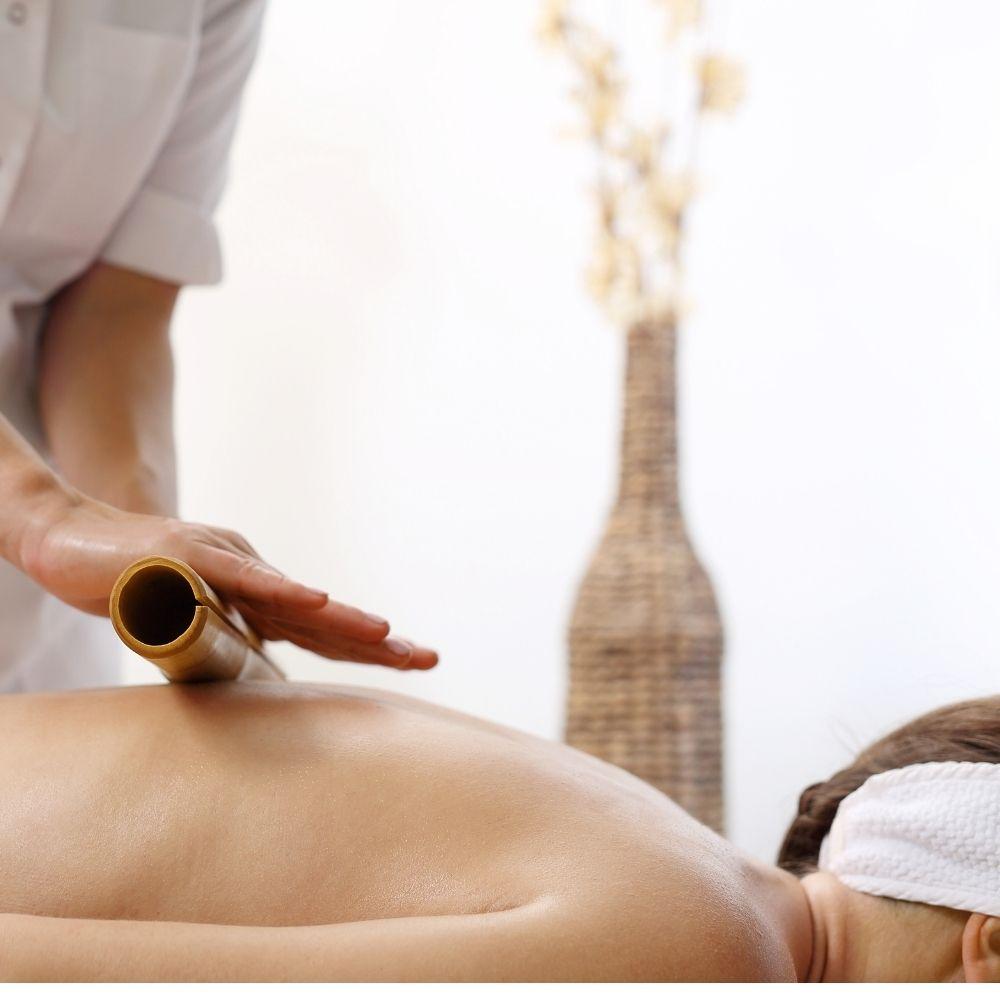 Kit Bambu para Massagem Modeladora Corporal e Facial com 6 Peças Lixado (TB)  - Emphática