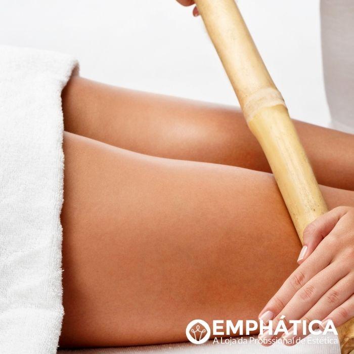 Kit Bambu para Massagem Modeladora Corporal e Facial com 6 Peças Natural (TB)  - Emphática