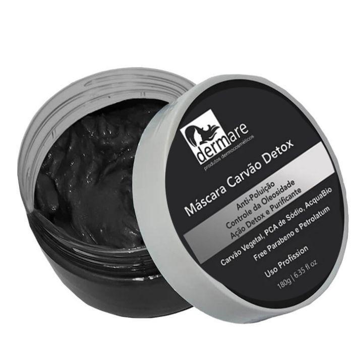 Máscara de Carvão Detox 180g (Dermare)  - Emphática