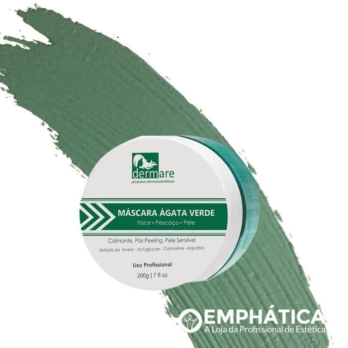 Máscara Facial Calmante Ágata Verde 200g (Dermare)  - Emphática