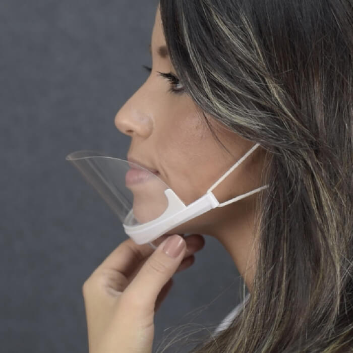 Mascara Higiênica Protetora  ClearMask Branca (Estek)  - Emphática