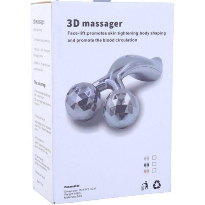 Massageador Facial e Corporal Prateado 3D  - Emphática